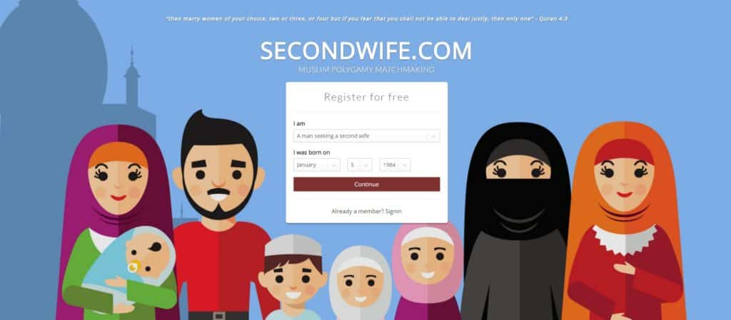 Secondwife.com homepage