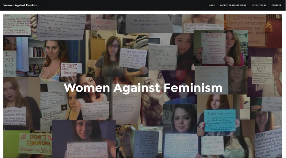 women against feminism #womenagainstfeminism
