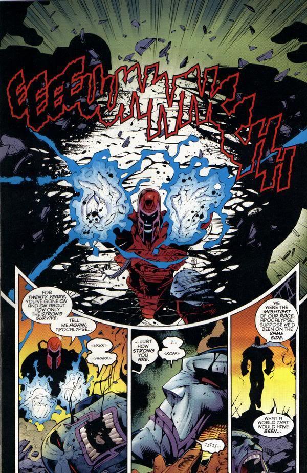magneto splits apocalype in half