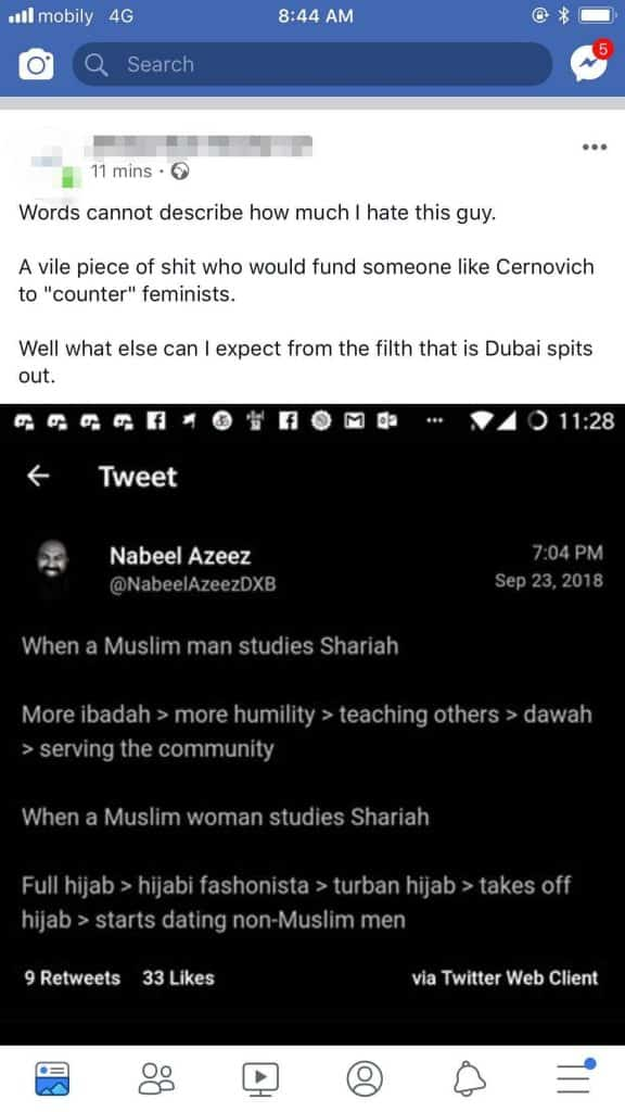 is mike cernovich an islamophobe?