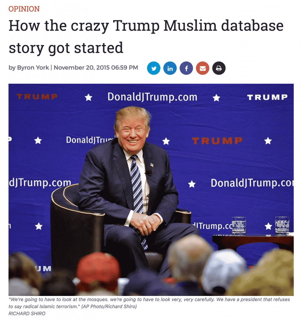 donald trump muslim registry hunter walker yahoo news
