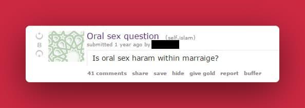 is sucking dick haram